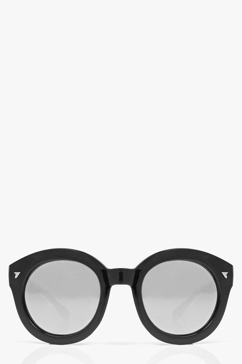 Eva Oversized Round Thick Frame Sunglasses