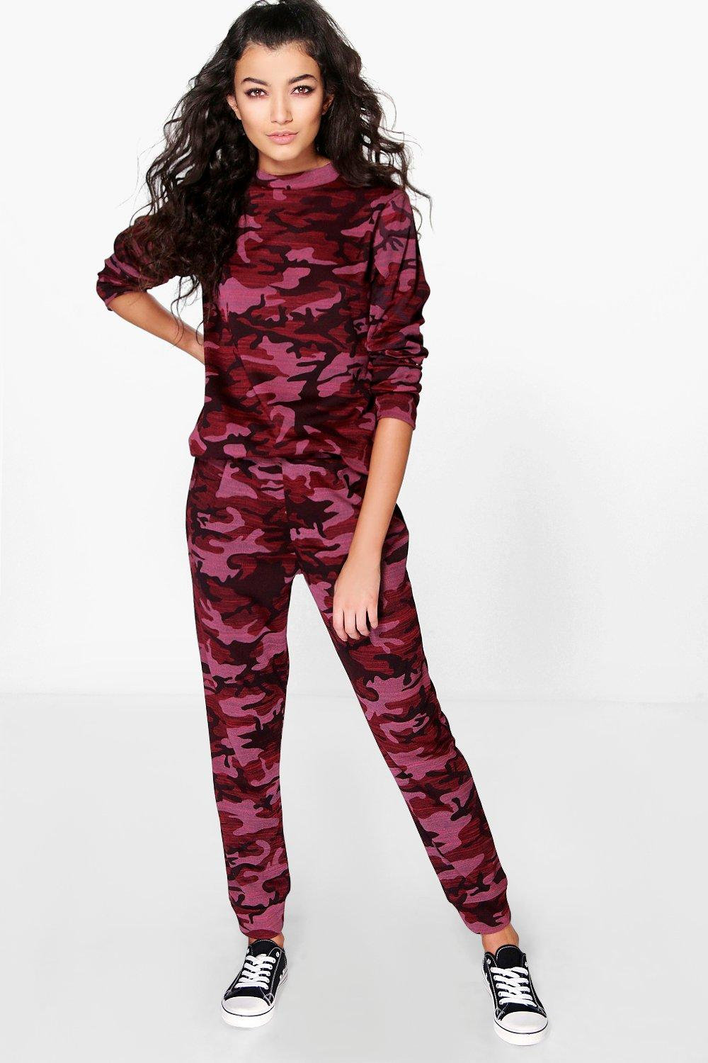Sophia Knitted Camo Joggers