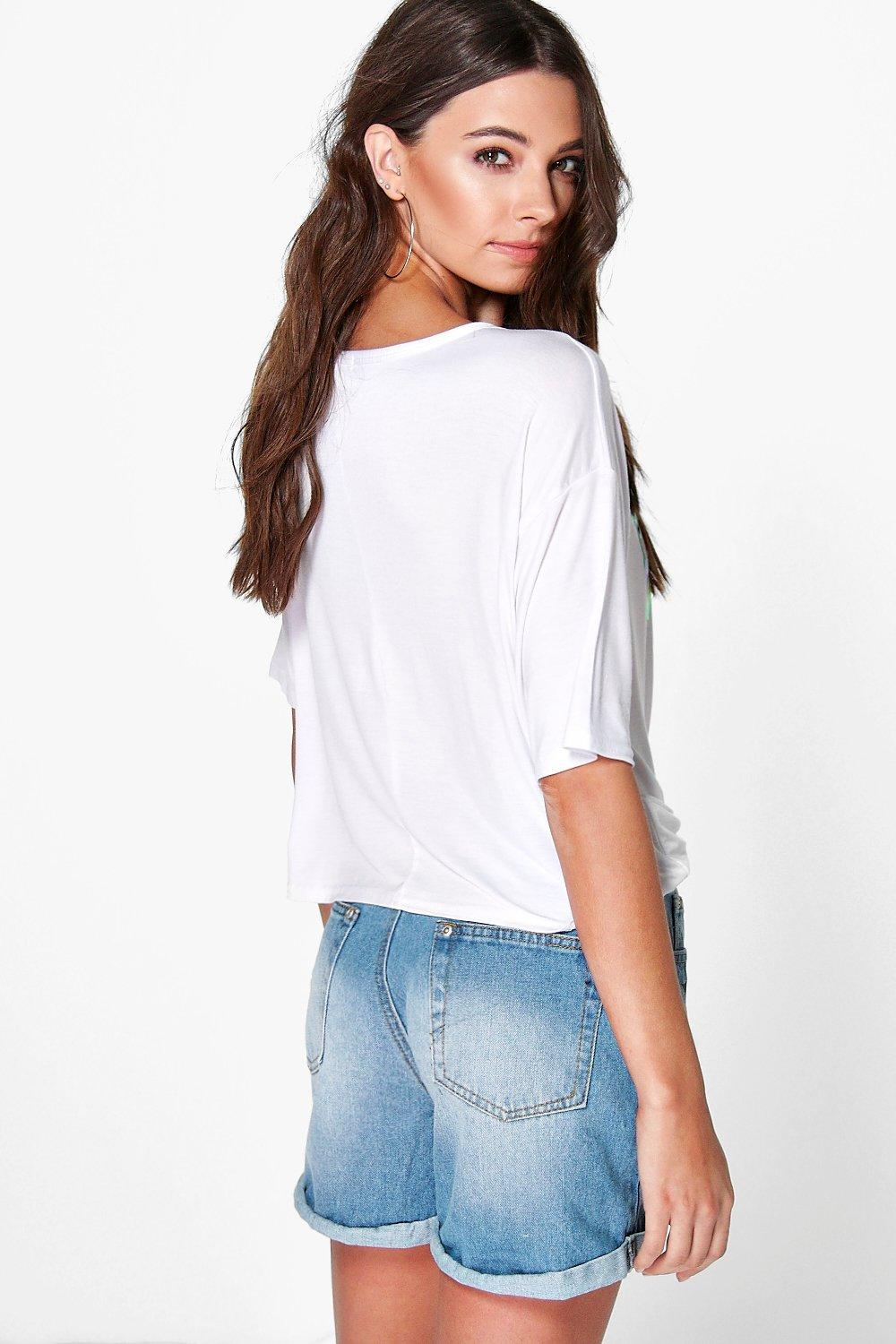Rosie West Coast Metallic Print Tee