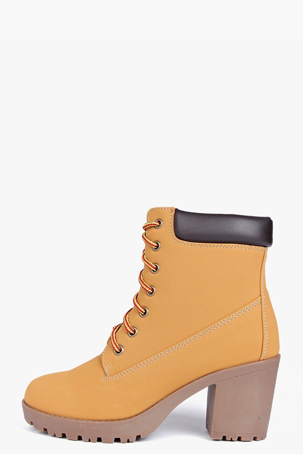 Vanessa Heeled Lace Up Hiker Boot