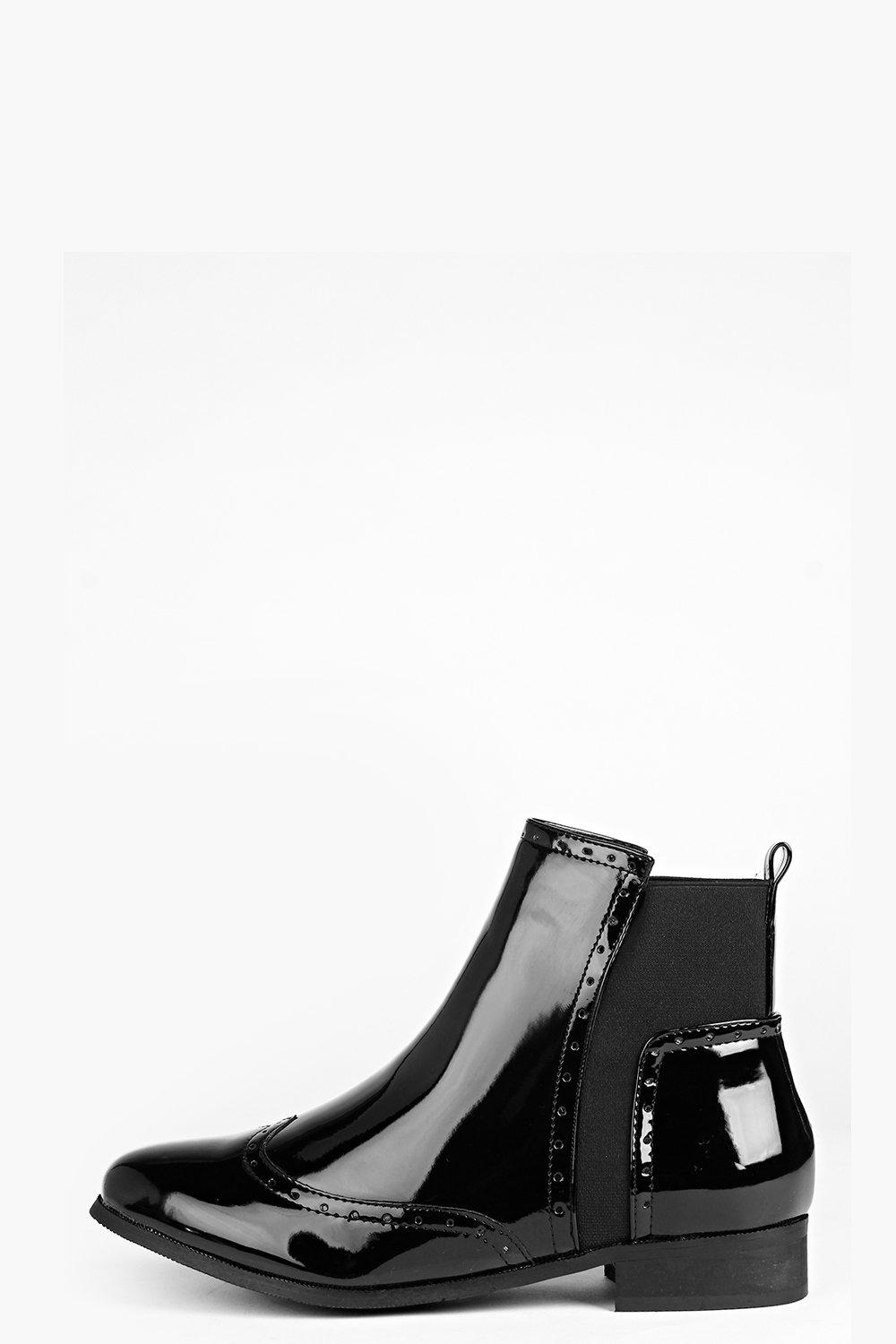 Abbie Punch Detail Chelsea Boot