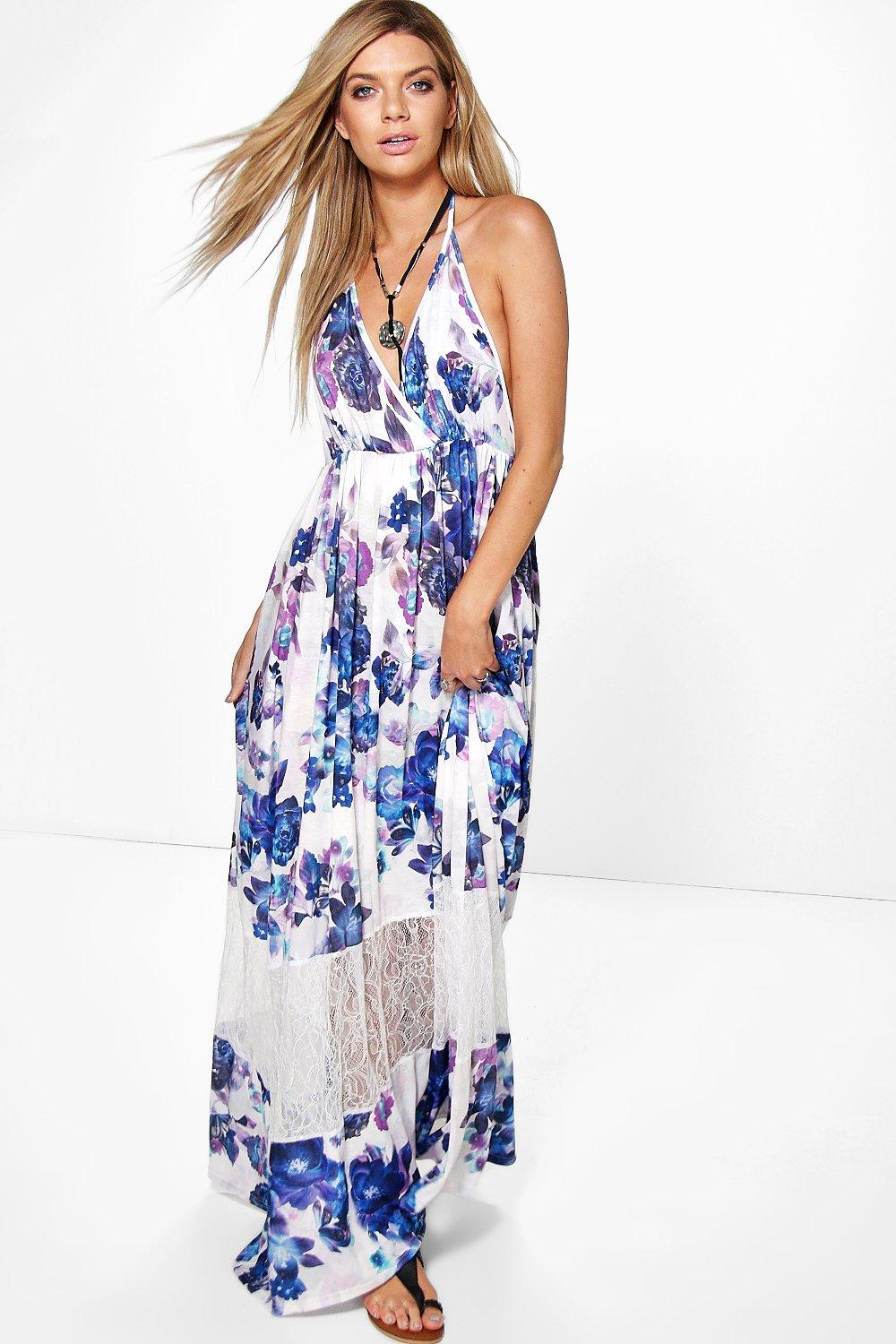 Lily Floral Lace Insert Maxi Dress