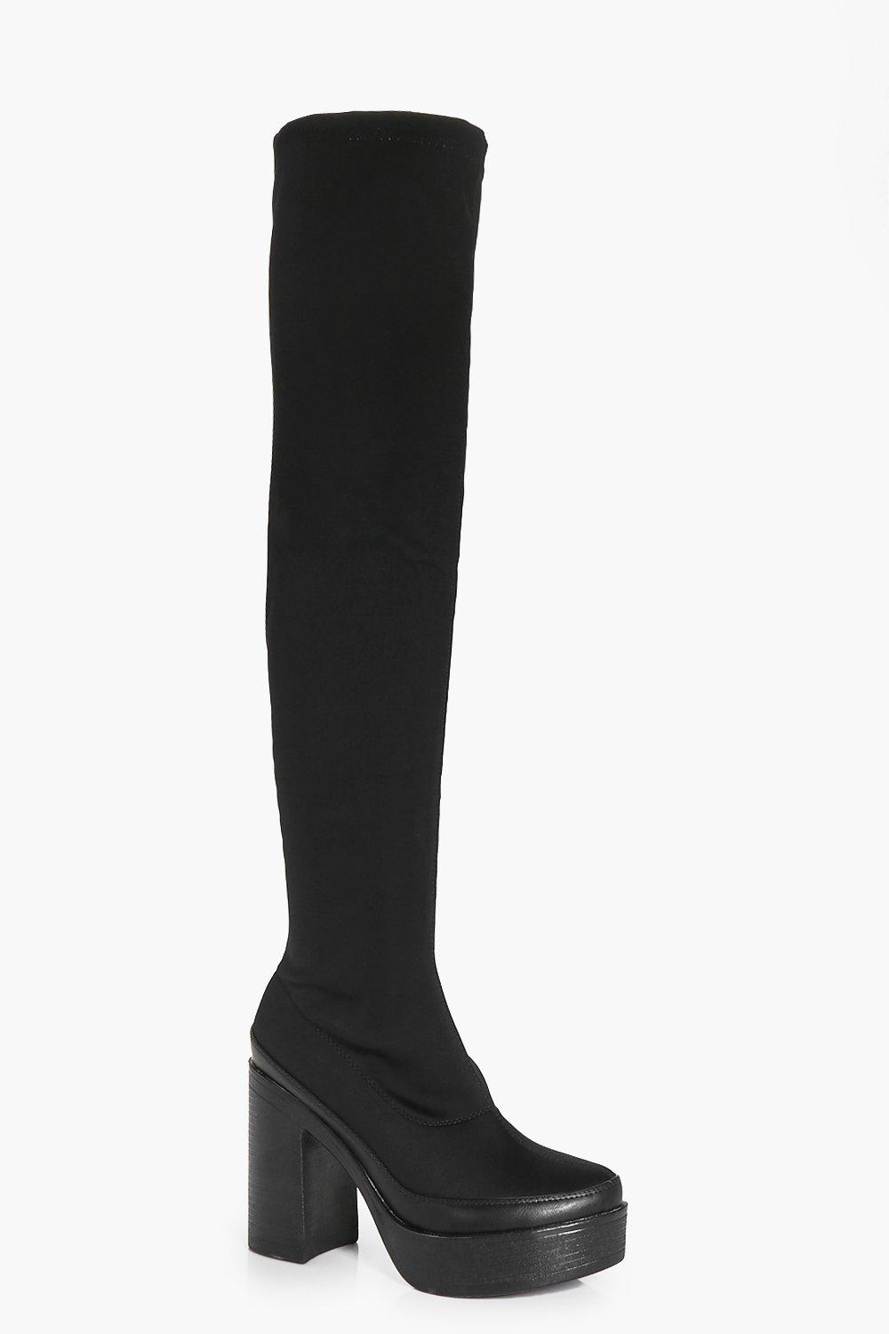 Julia Stretch Platform Over The Knee Boot