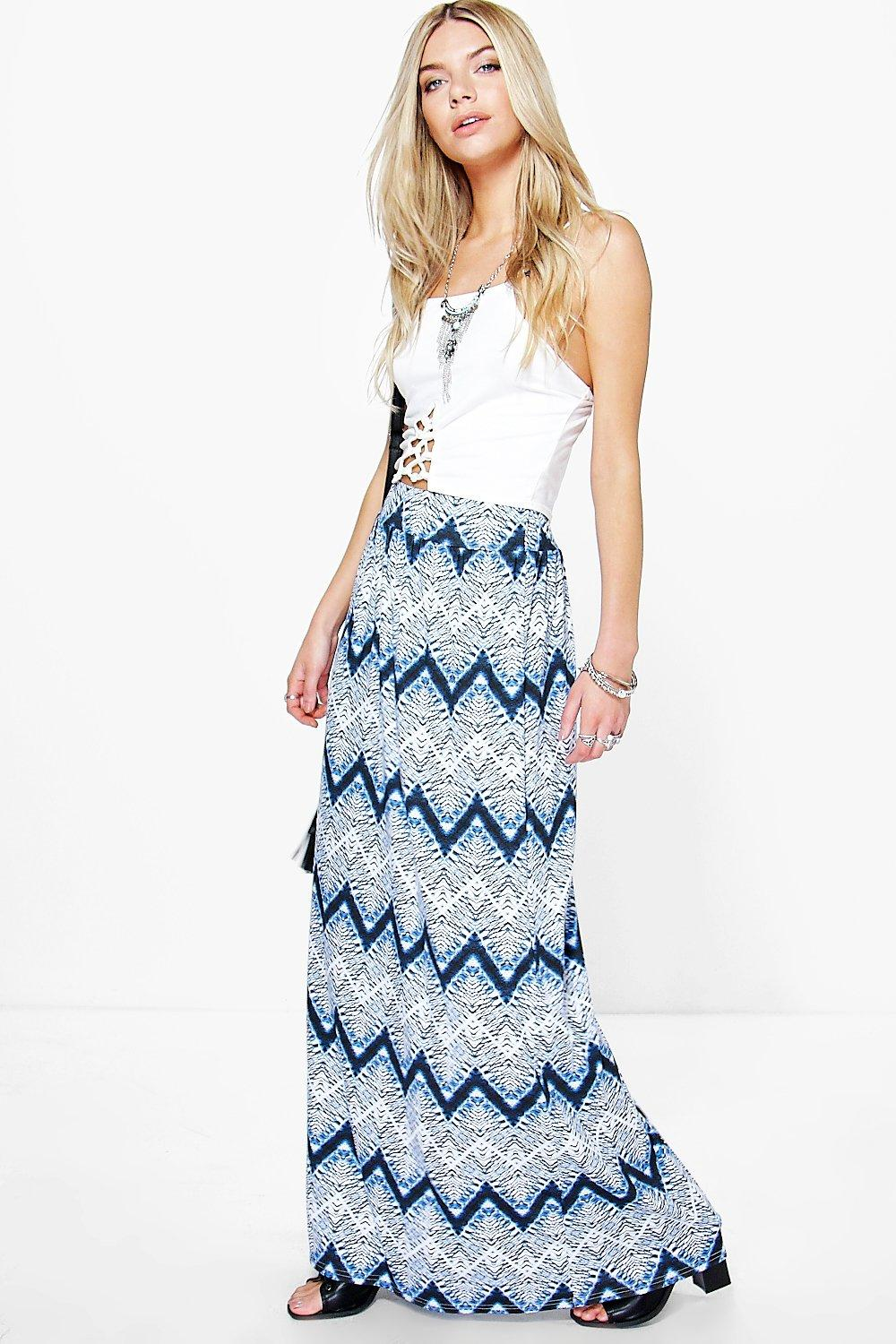 Sophia Tie Dye Floor Sweeping Maxi Skirt