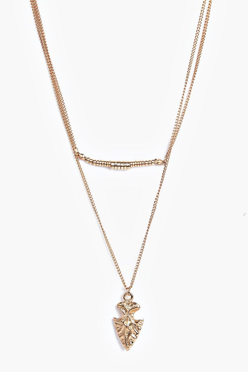 Darcy Arrow And Bar Layered Necklace