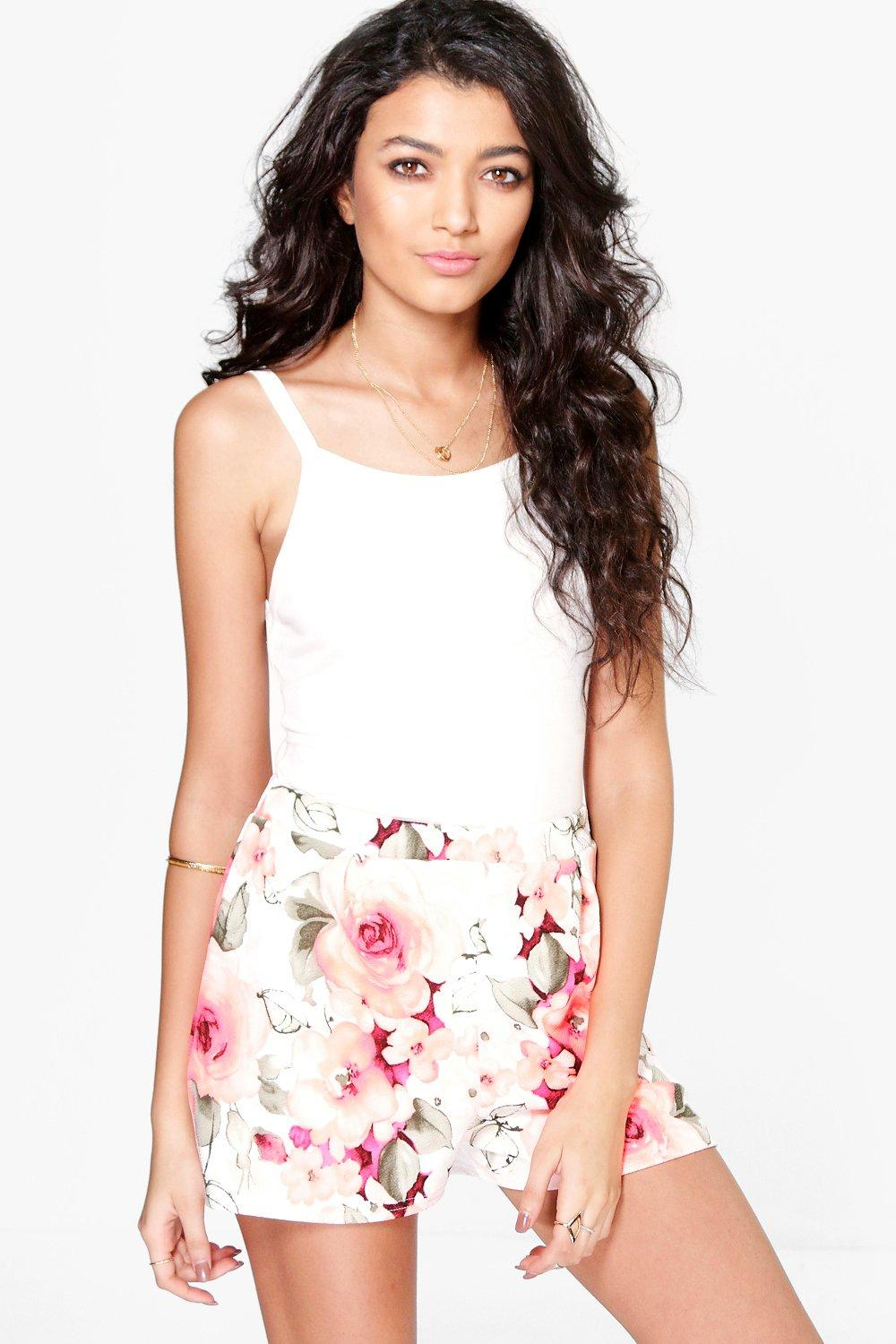Megan Longer Length Floral Shorts