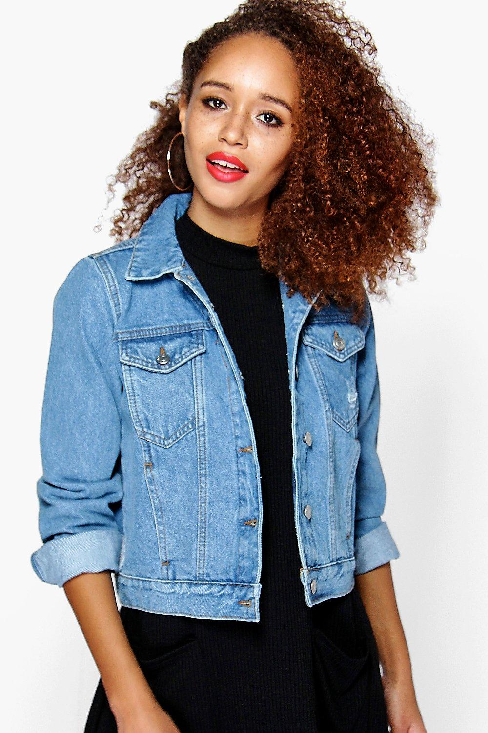 Cindy Stone Wash Denim Jacket