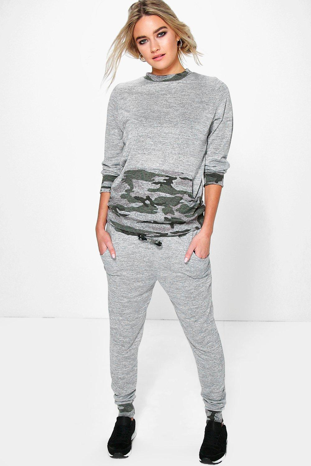 Aimee Camo Pocket Knitted Loungewear Set