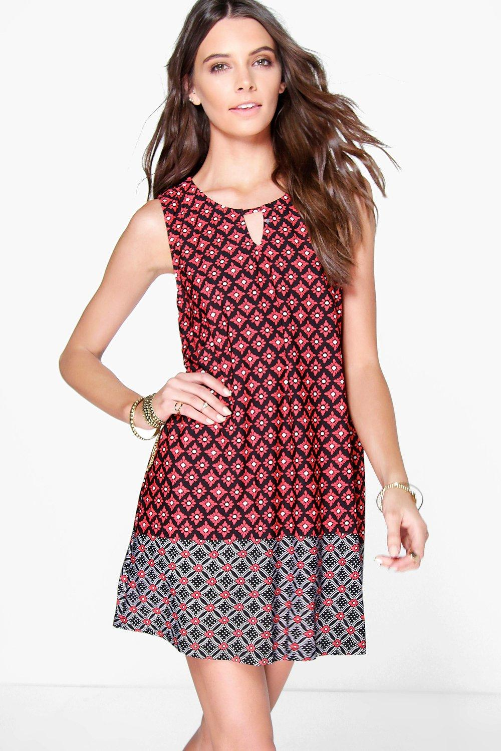 Sarah Tile Printed Shift Dress