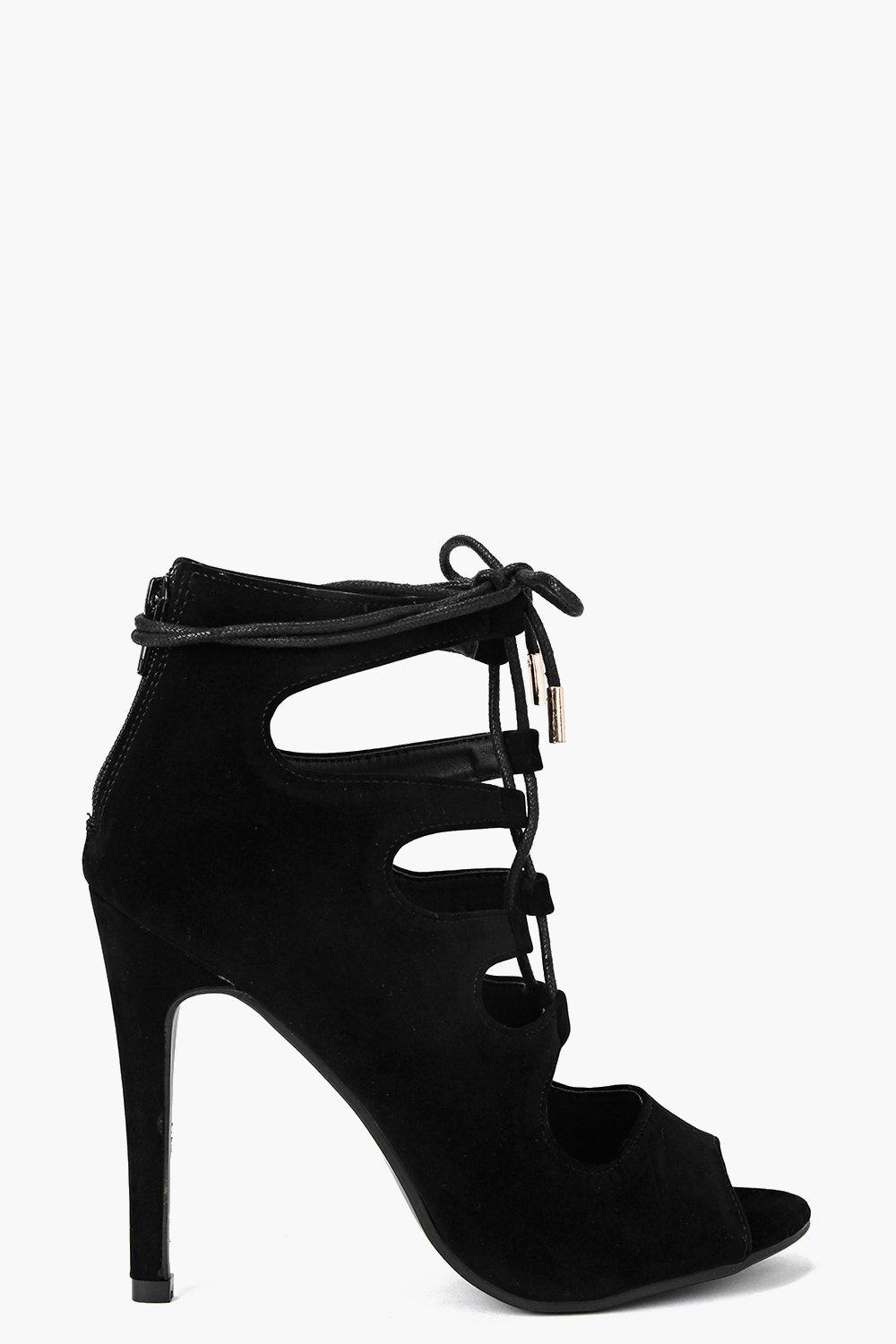 Maisie Cage Lace Up Heels