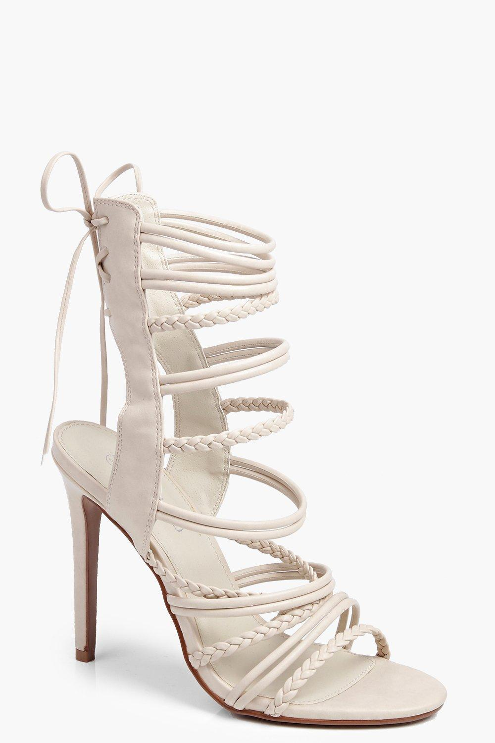 Anya Plaited Strappy Lace Up Sandal