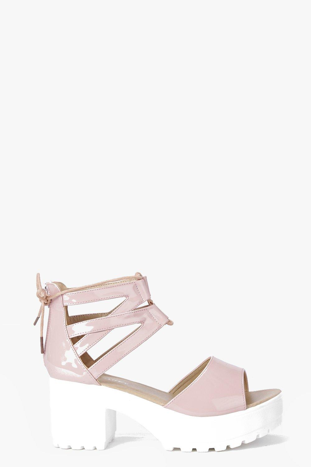Tia Lace Up Two Part Cleated Sandal