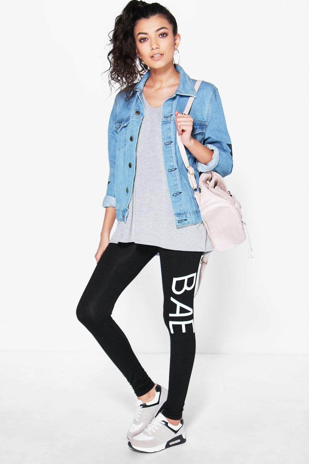 Kaia 'Bae' Basic Slogan Leggings