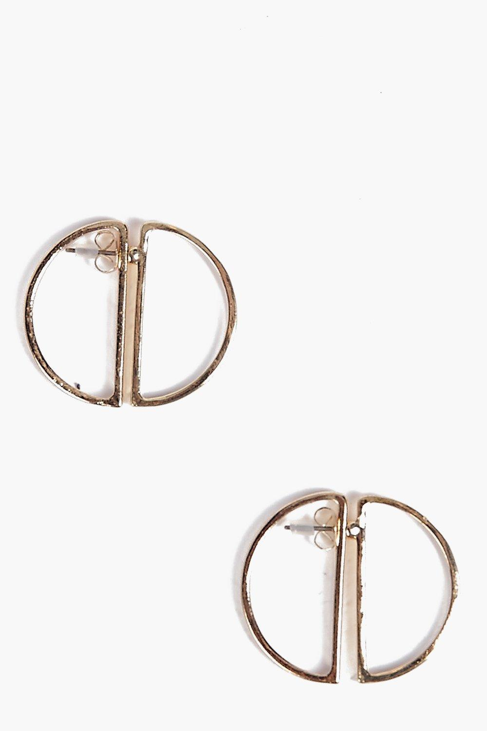 Lena Split Circle Earrings
