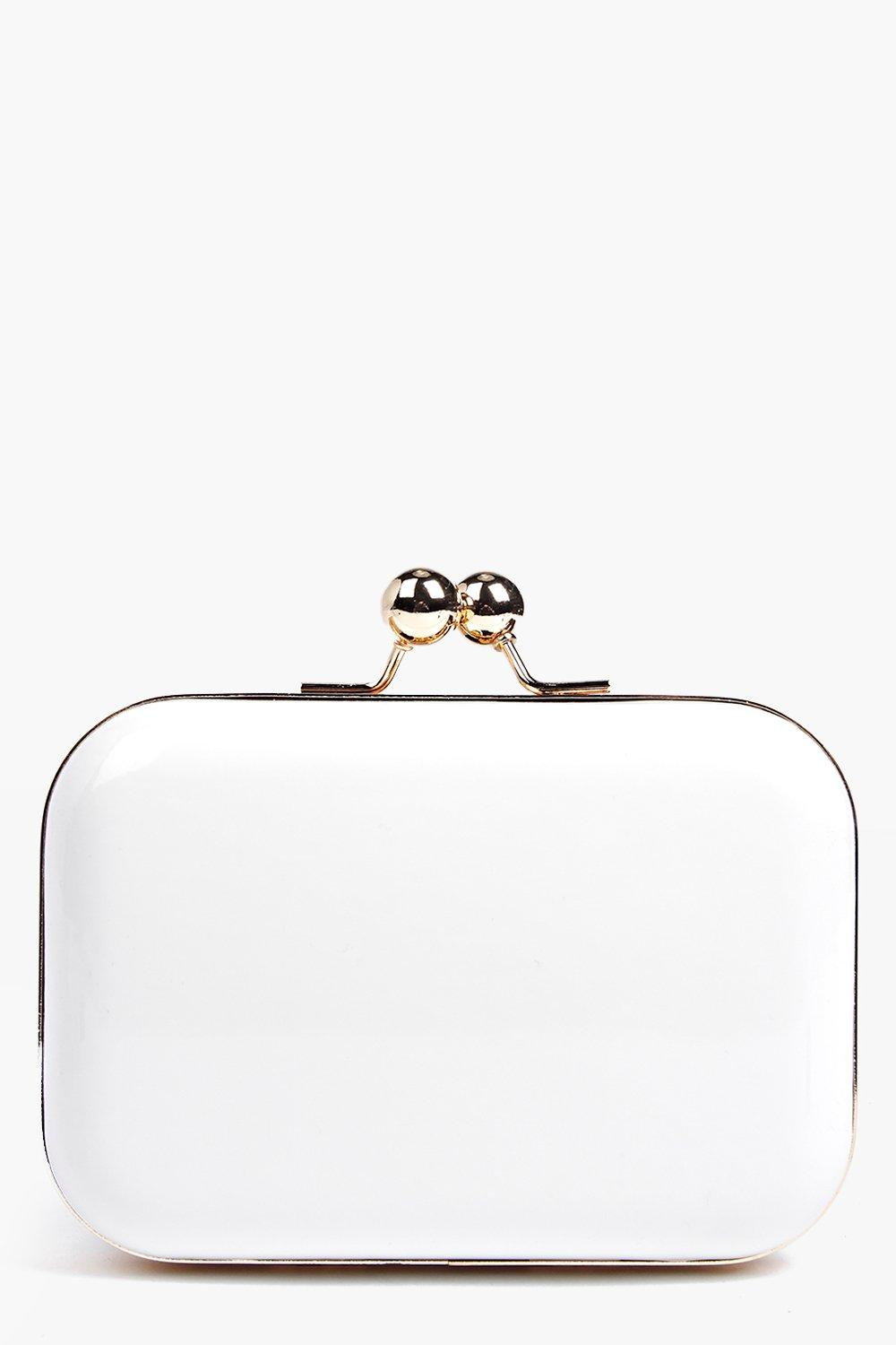 Lily Patent Box Clutch Bag