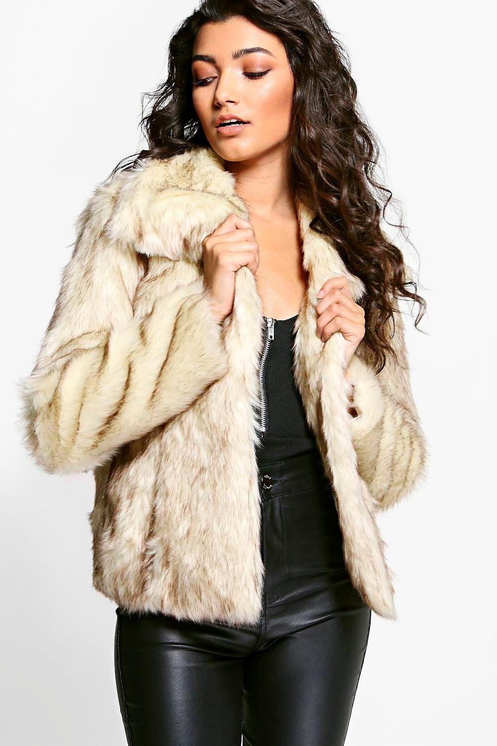 Boutique Jasmine Vintage Faux Fur Coat