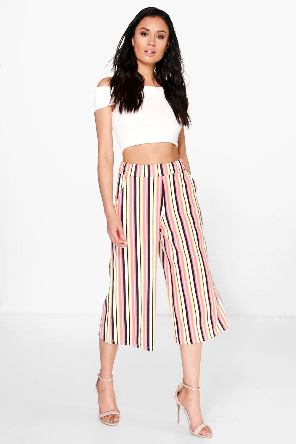 Gracie Striped Wide Leg Culottes