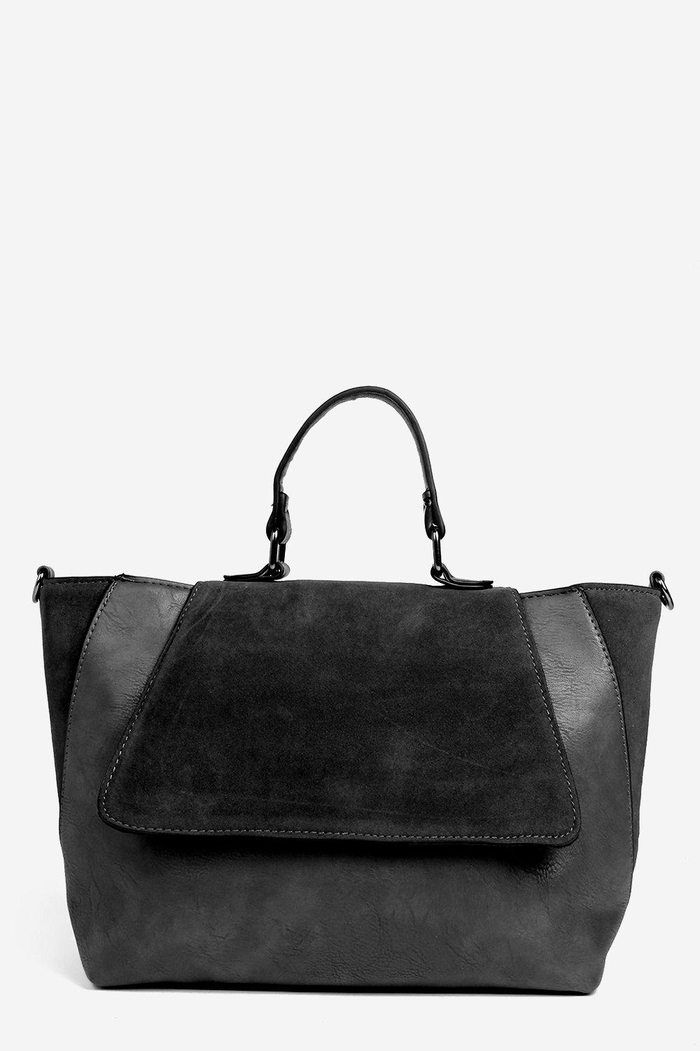 Lucy Winged Suedette Faux Leather Bag