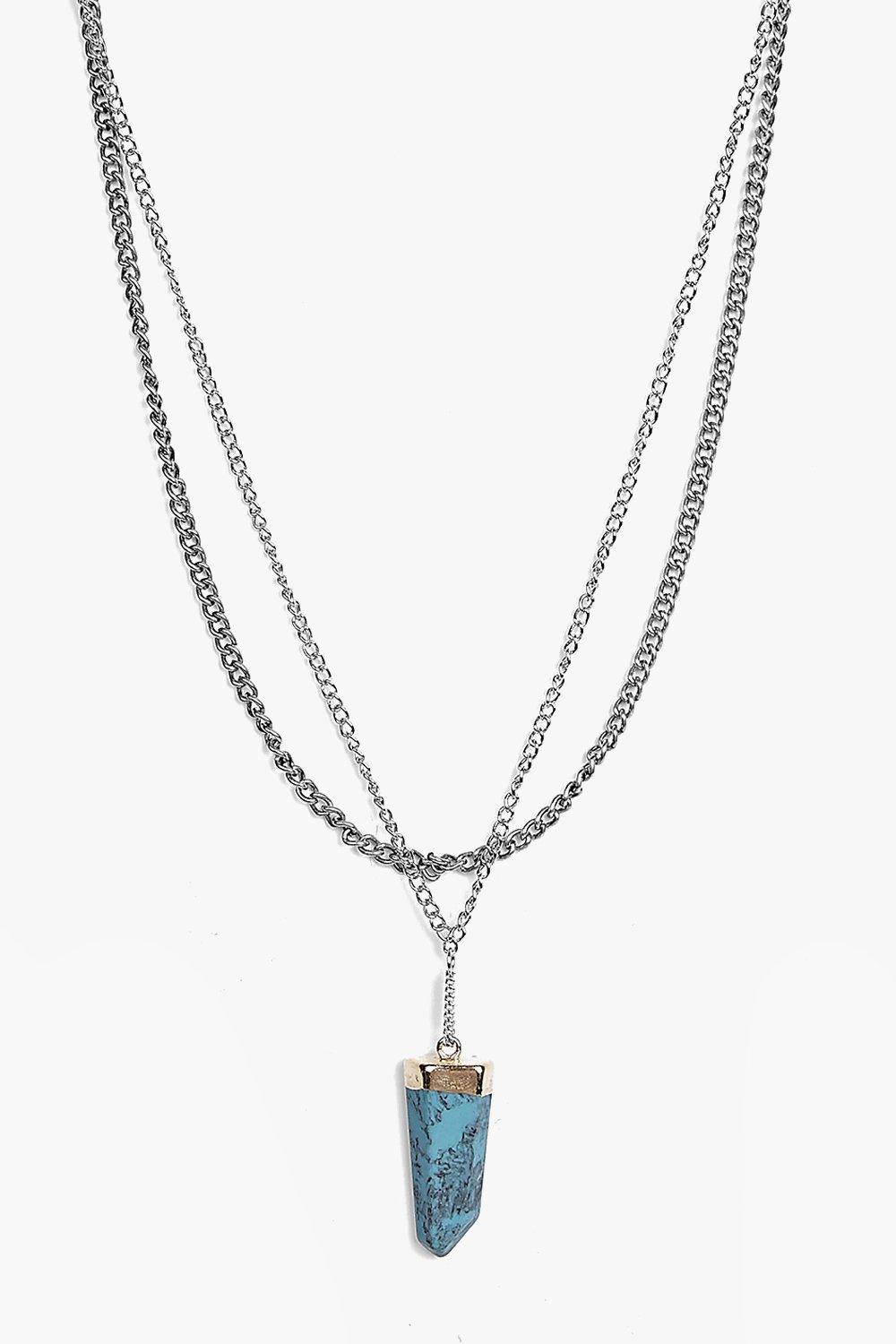 Naomi Crystal Pendant Layered Necklace