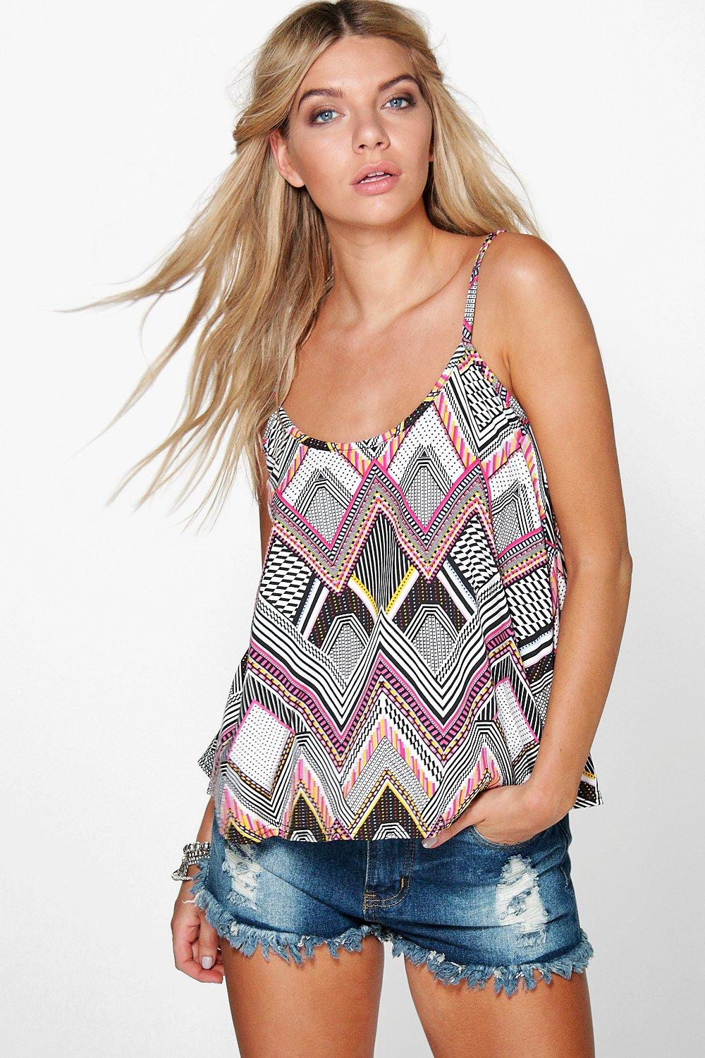 Lizzie Aztec Printed Swing Cami