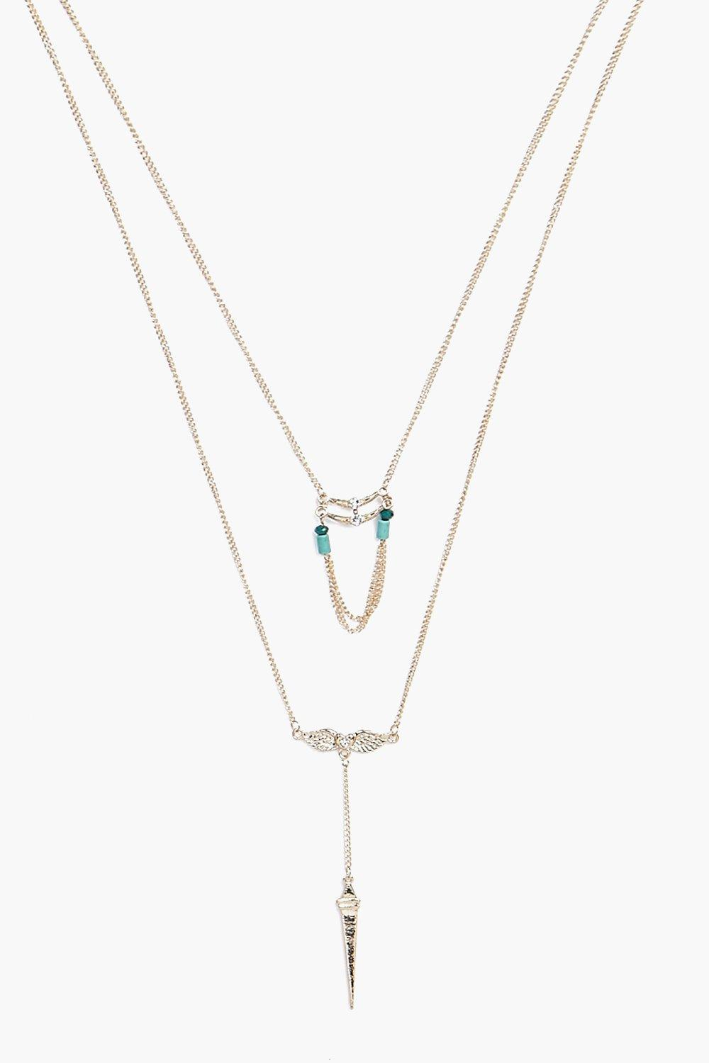 Gracie Tassel Pendant Layered Necklace