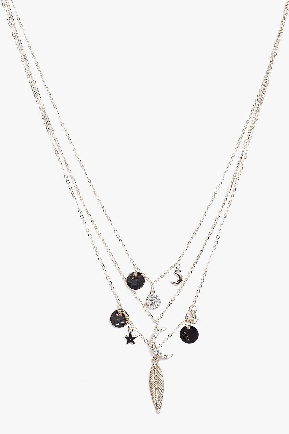 Eva Moon And Star Charm Necklace Pack