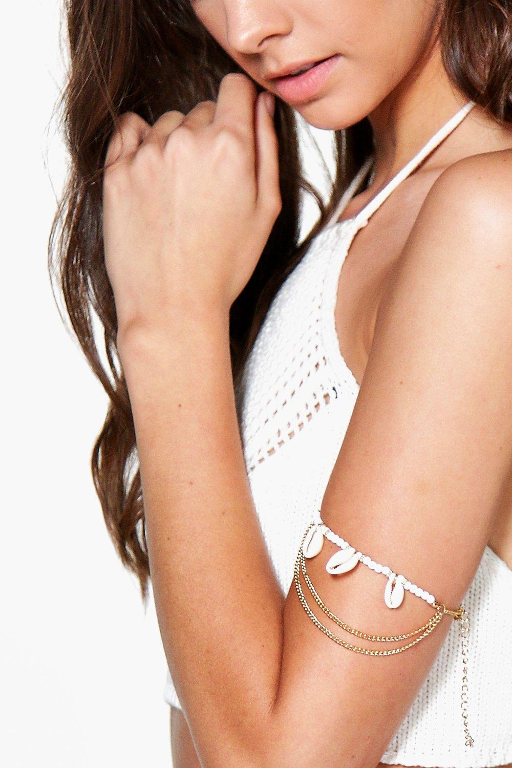 Florence Shell Chain Arm Cuff