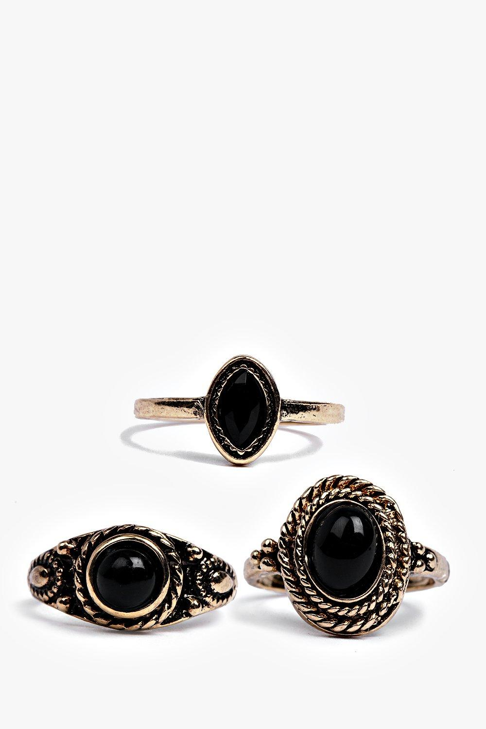 Lexi Stone Detail Midi Ring Pack