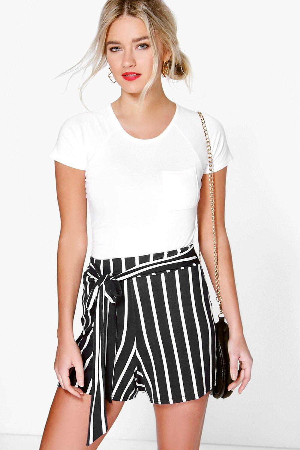 Fiona Striped Tied Shorts