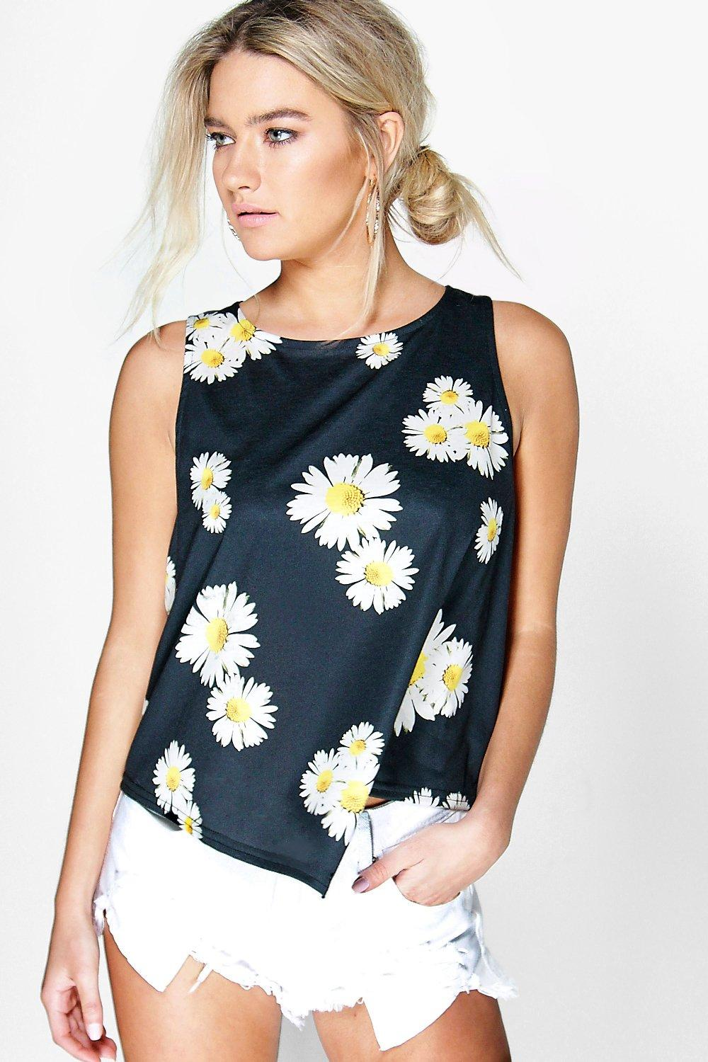 Esme Daisy Print Swing Sleeveless Vest