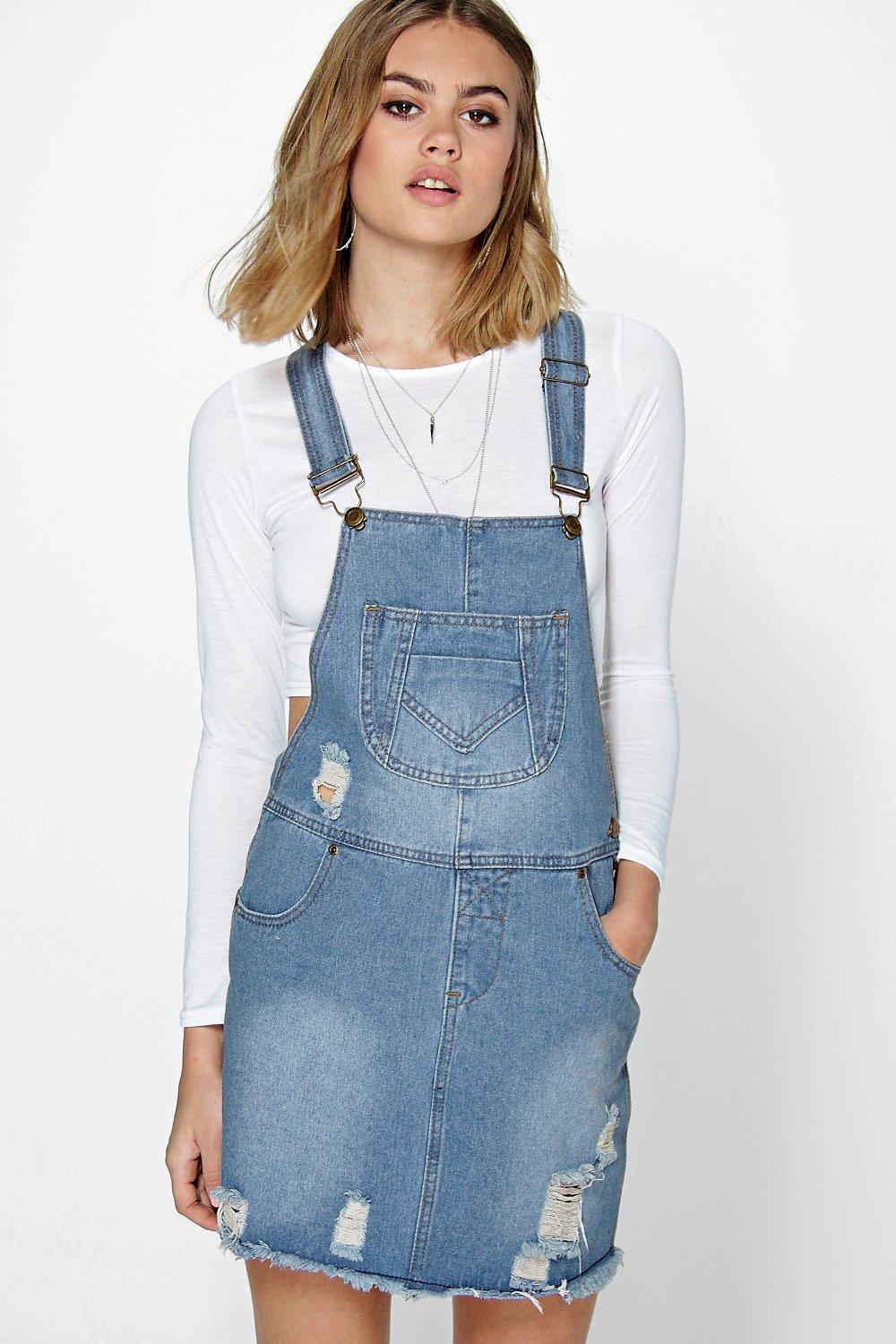 Eva Fray Edge Denim Pinafore