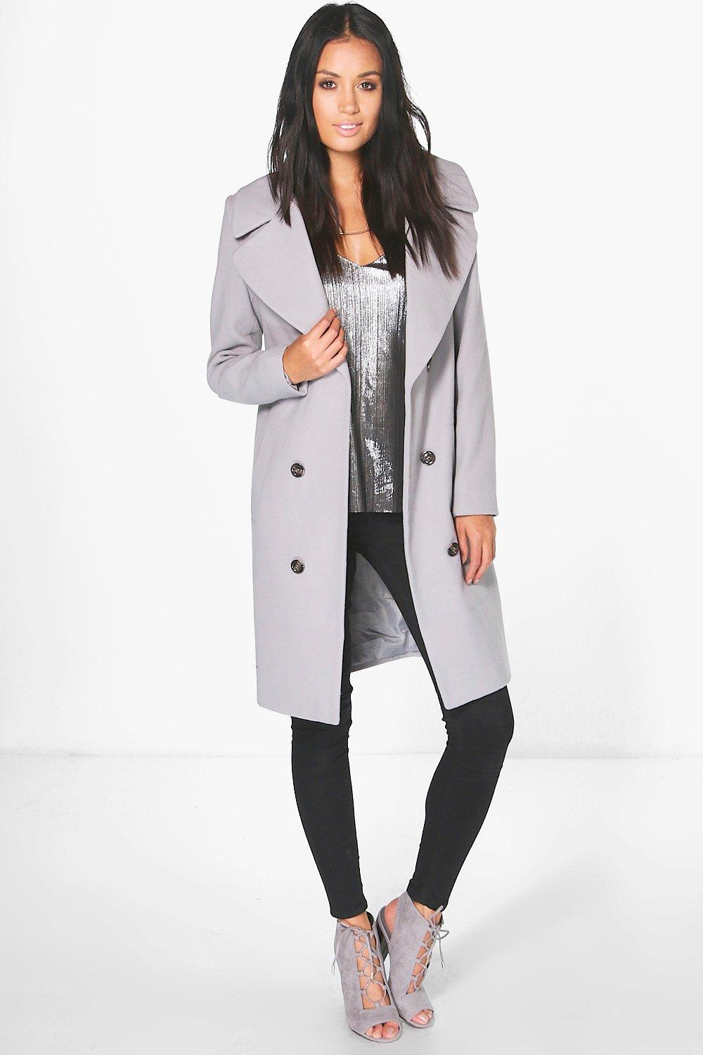 Faith Oversized Collar Double Breasted Coat