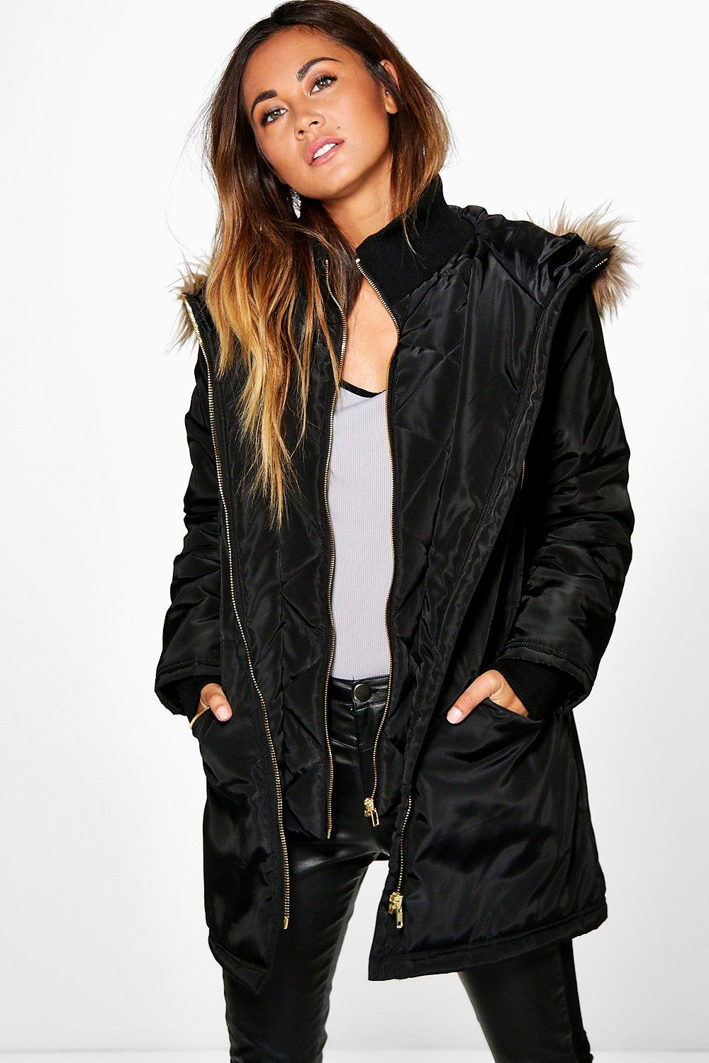 Boutique Layla Luxe Double Layered Parka