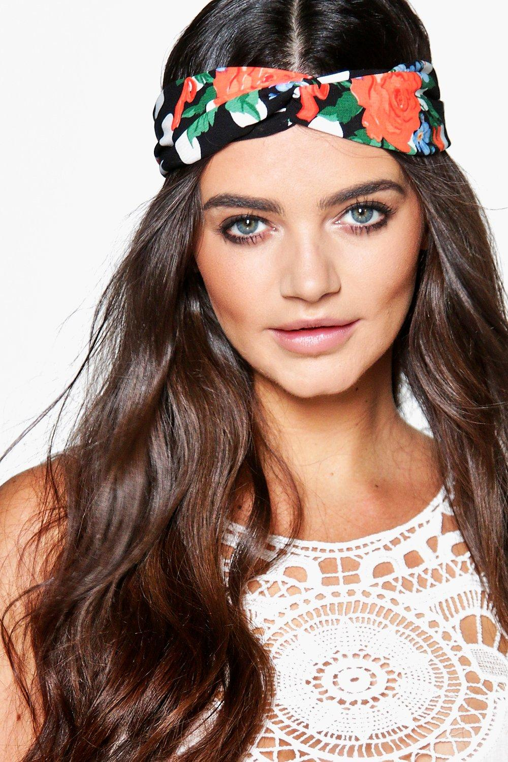 Eva Floral And Polka Dot Turban Headband