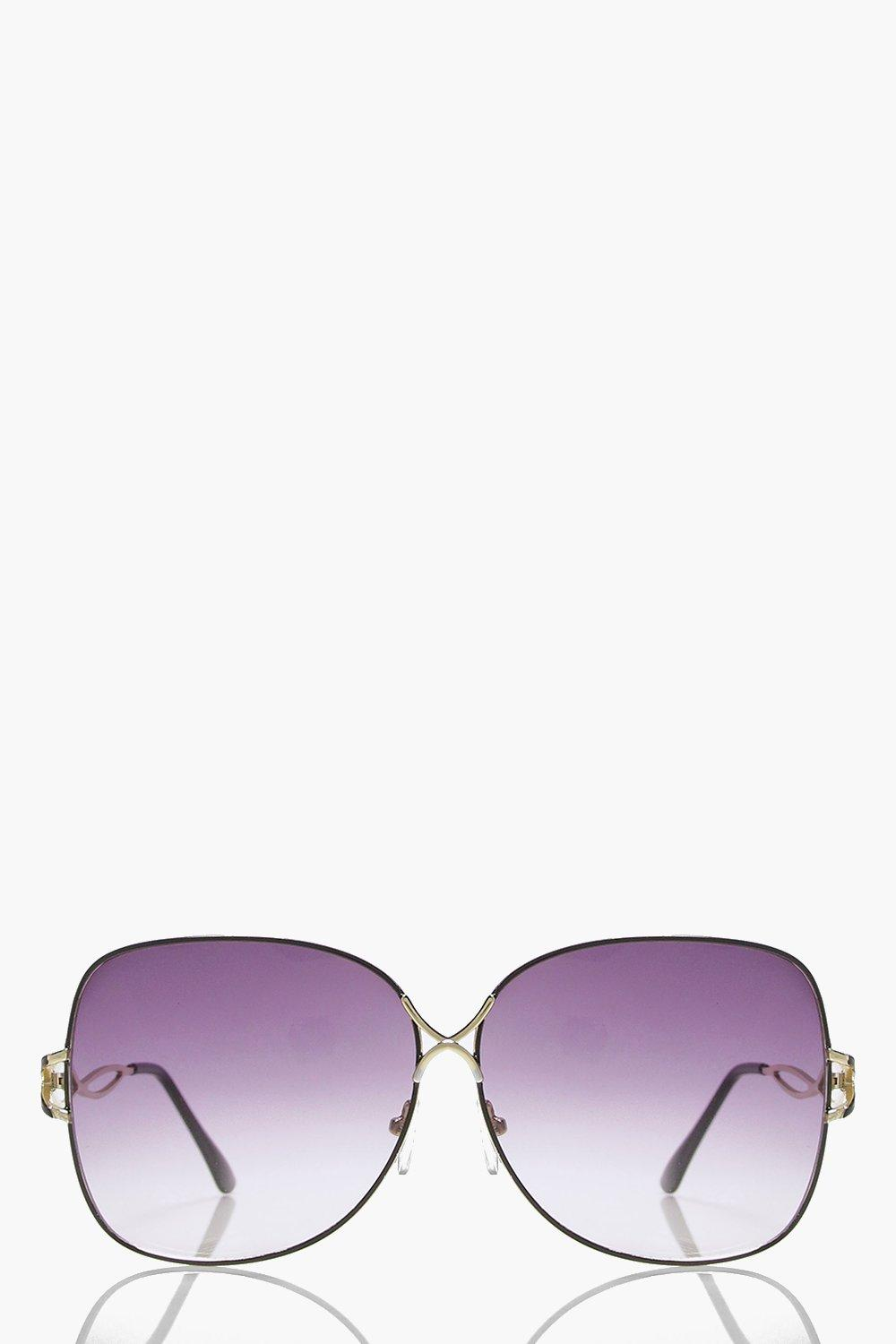 Jessica Oversized Oval Frame Sunglasses