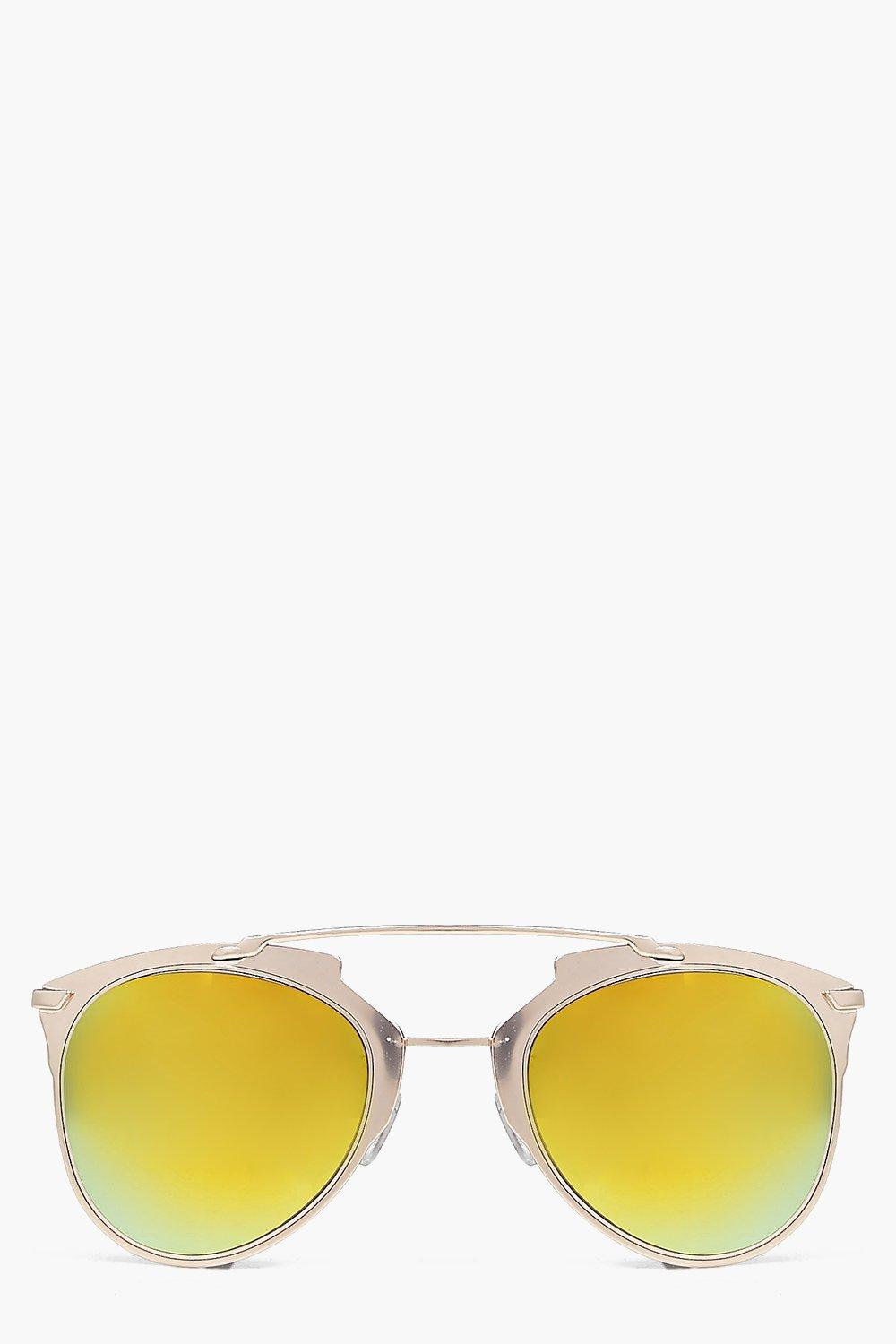 Maya Thick Metal Frame Aviator Sunglasses