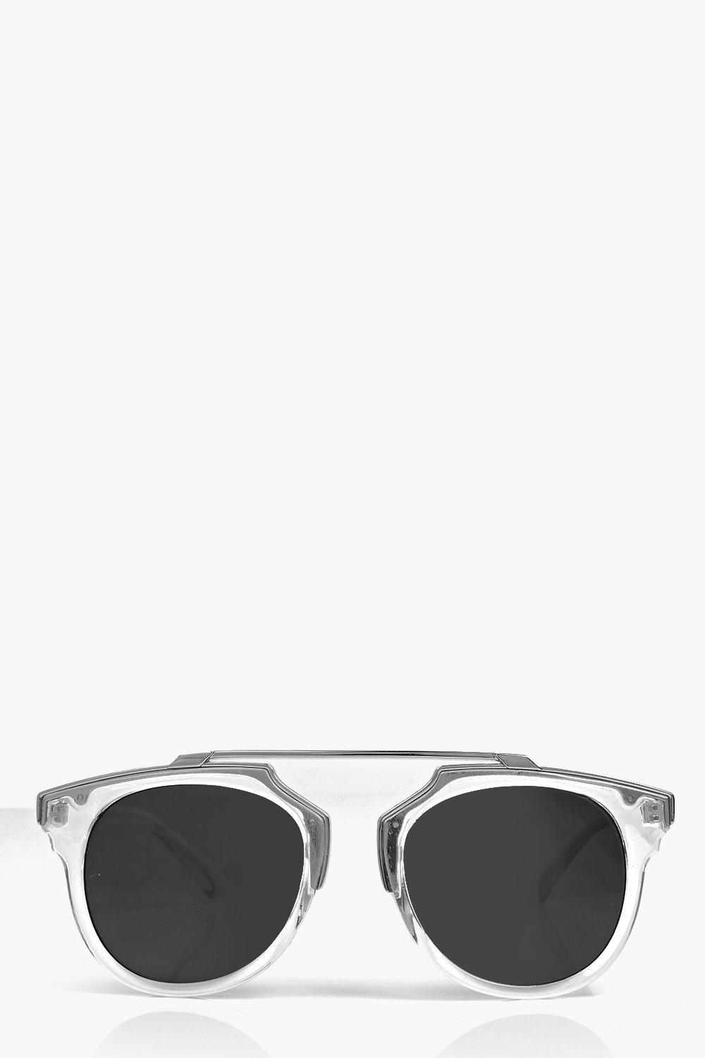 Rosie Metal Bar Clear Frame Sunglasses