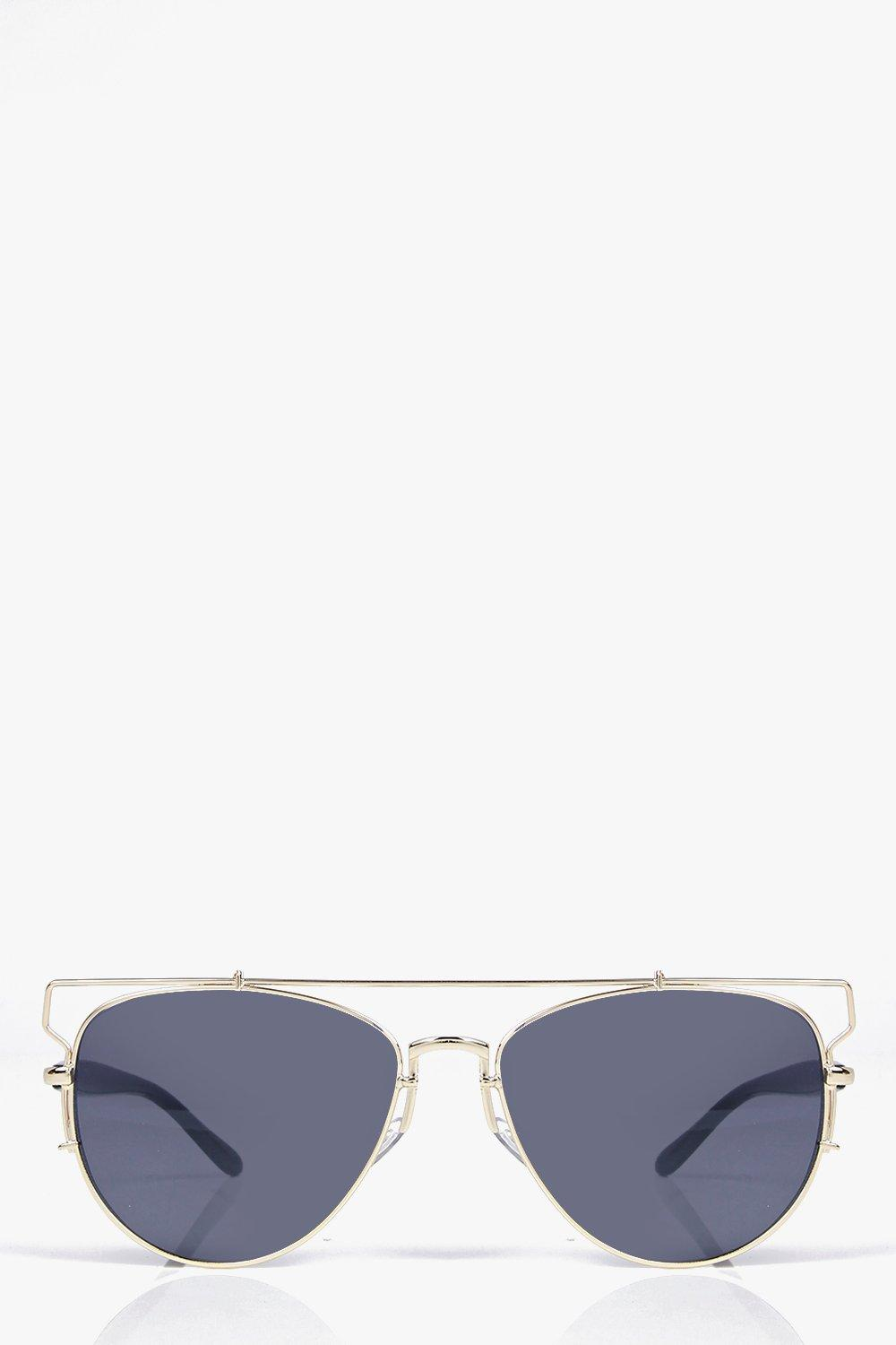 Tia Cut Out Metal Frame Modern Aviators