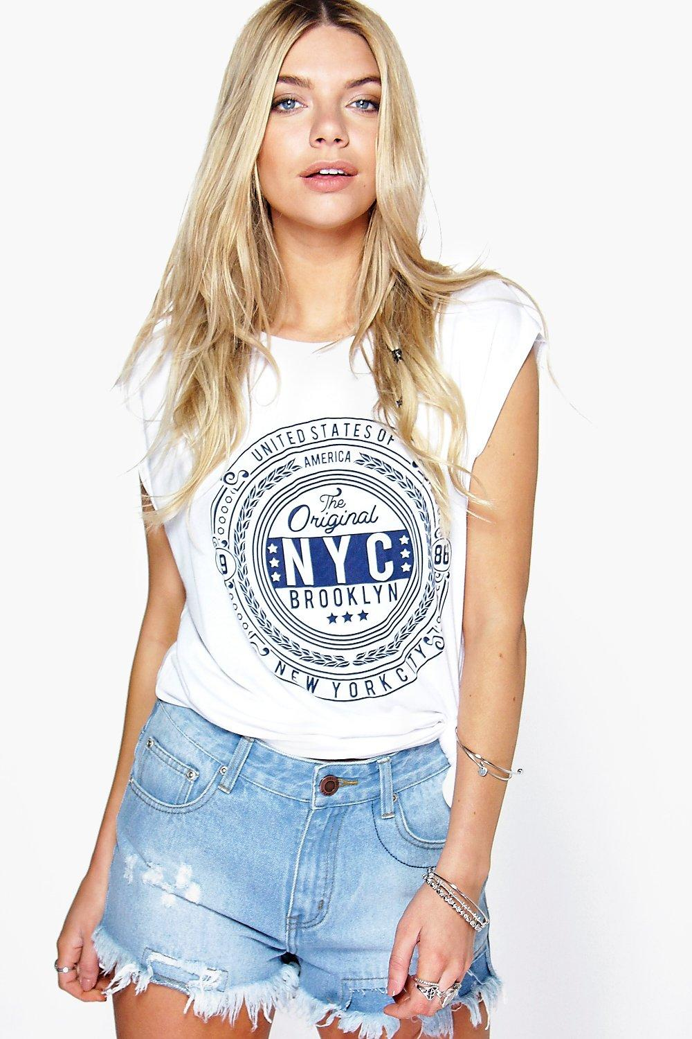 Lucy Contrast Distressed Denim Hotpants