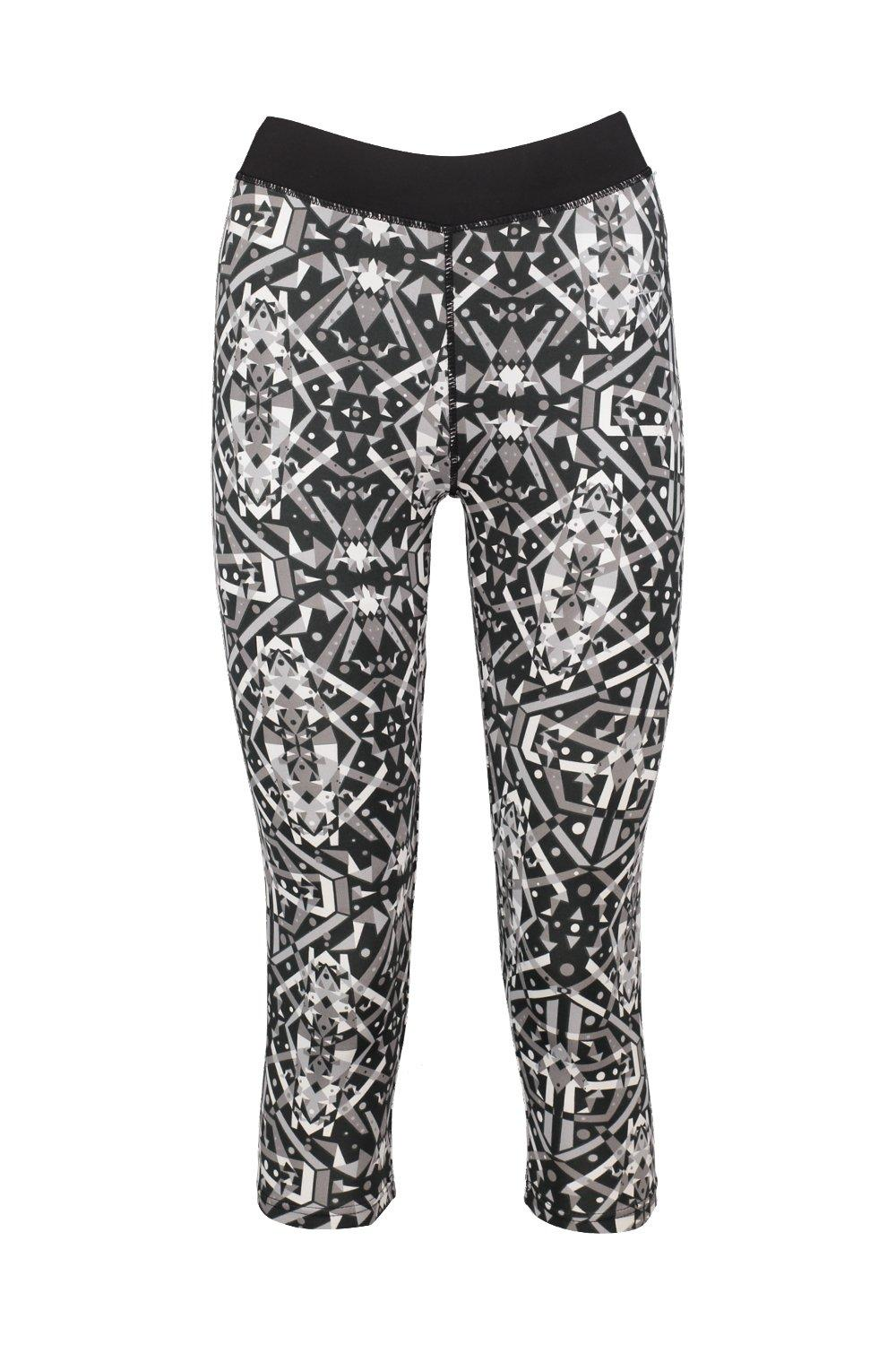 Amy Printed Capri Running Leggings