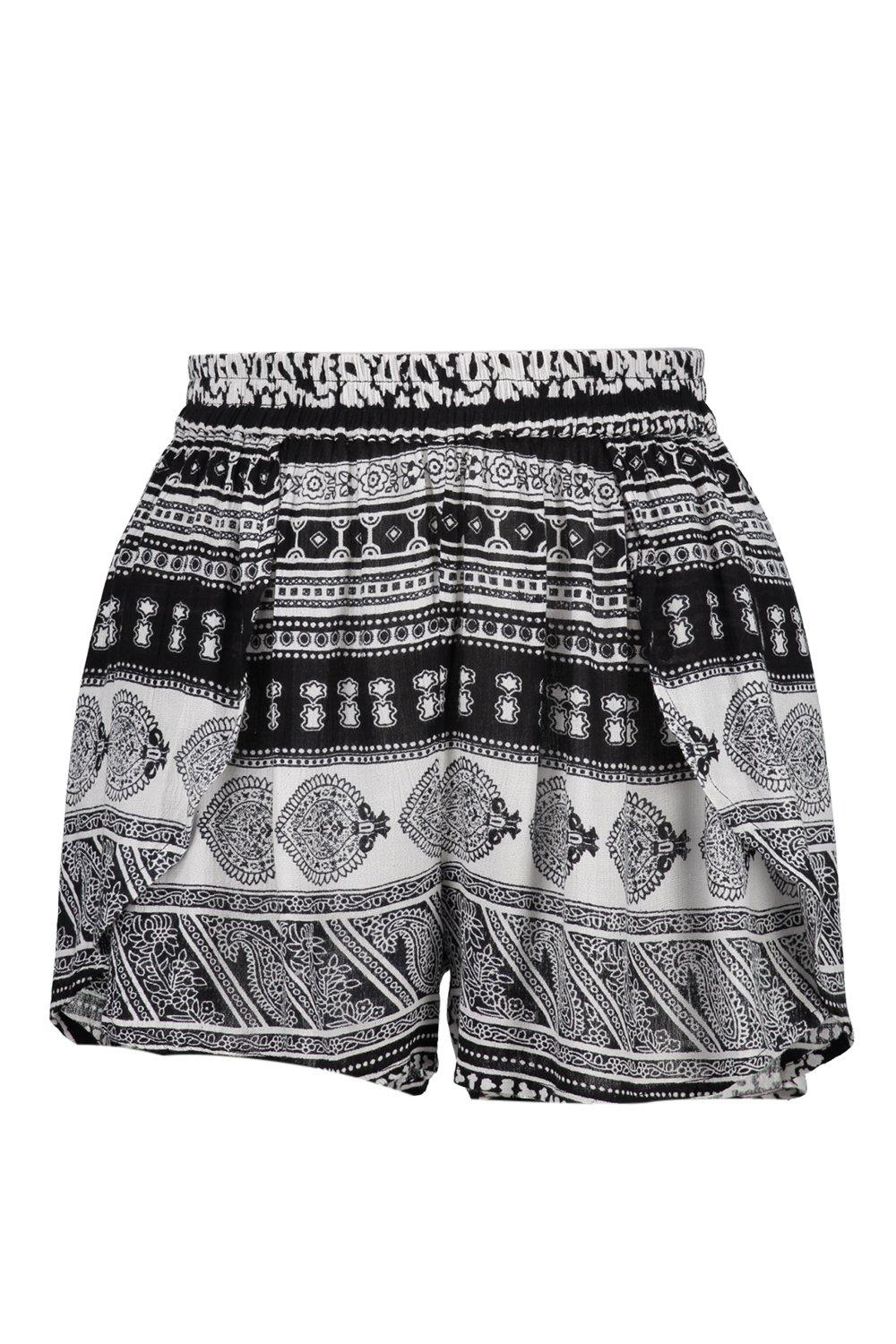 Elen Border Print Runner Shorts