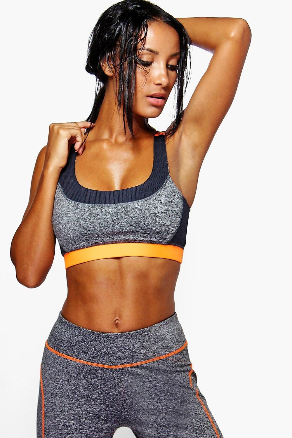 Abigail Mesh Detail Sports Bra