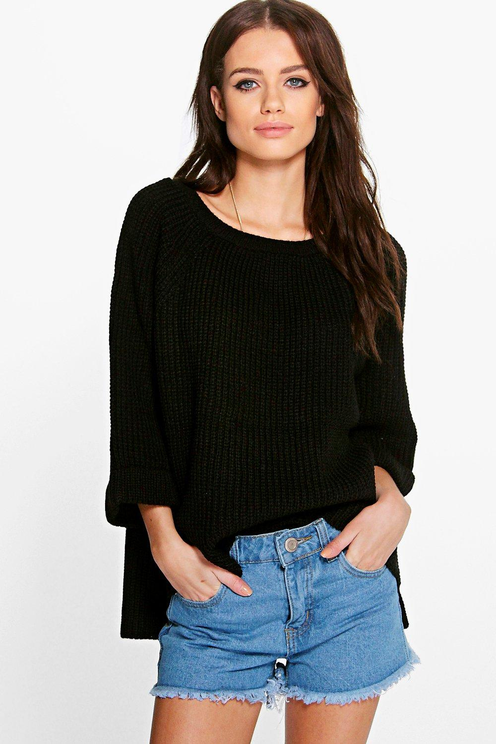 Mya Wide Sleeve Turn Up Cuff Jumper