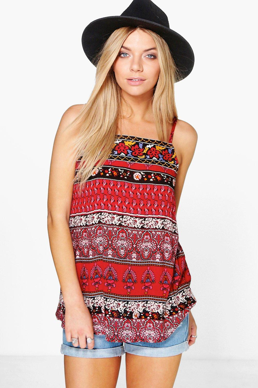 Skye Embroidered Top Woven Cami