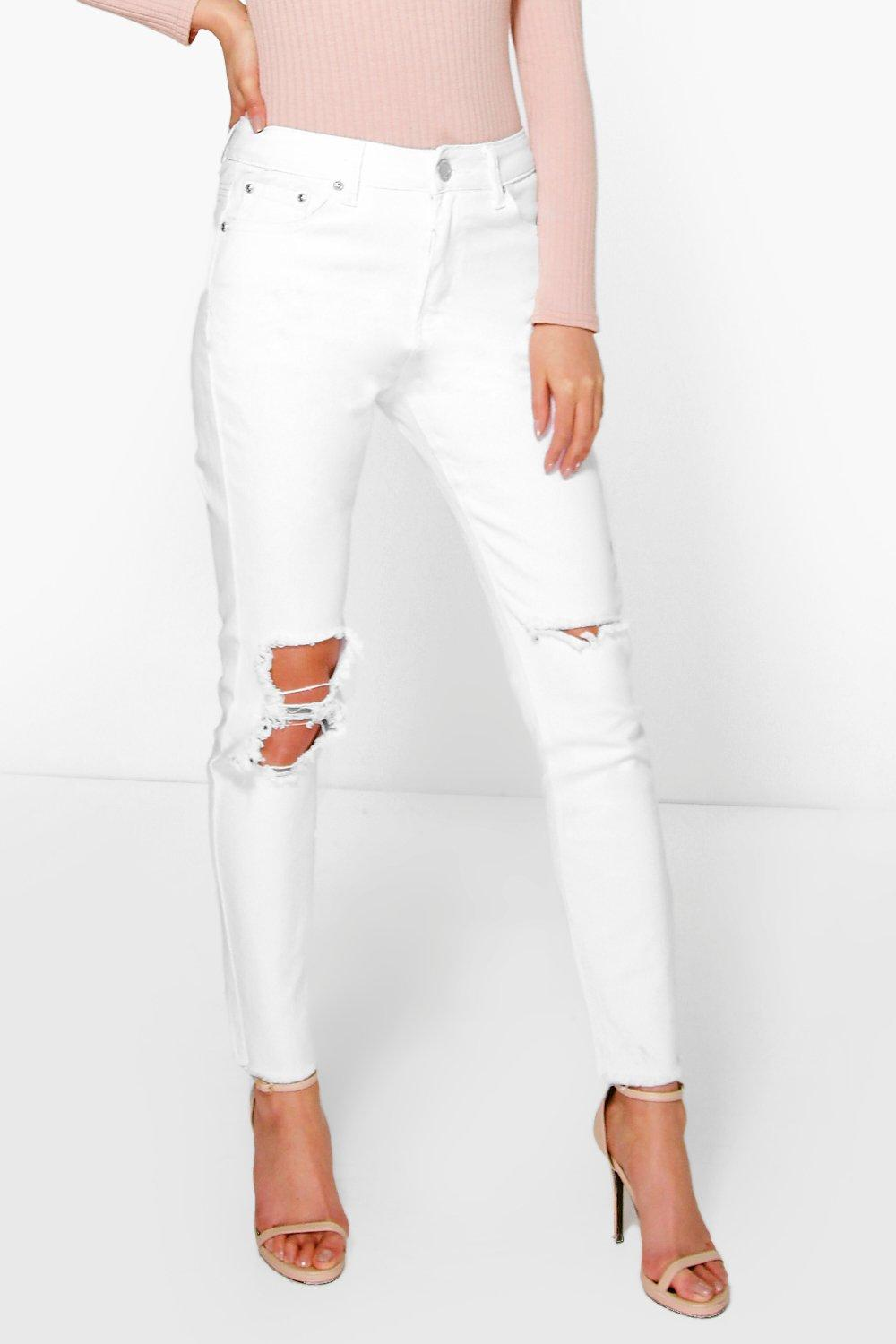 Charlie High Rise Clean Split Knee Skinny Jeans