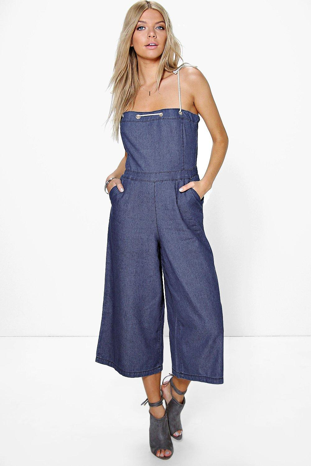 Louise Rope Tie Denim Jumpsuit