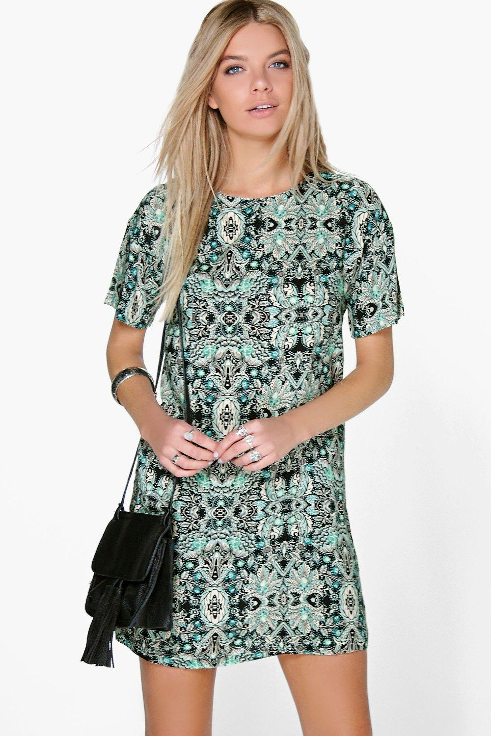 Denise Multi Print Shift Dress
