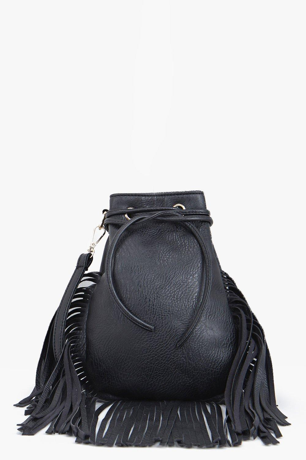 Eva Fringed Eyelet Detail Cross Body Bag
