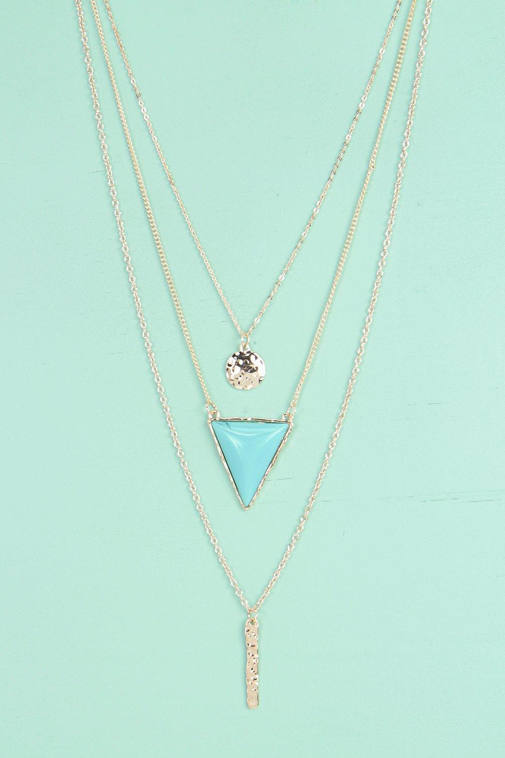 Orla Triangle Stone Layered Necklace