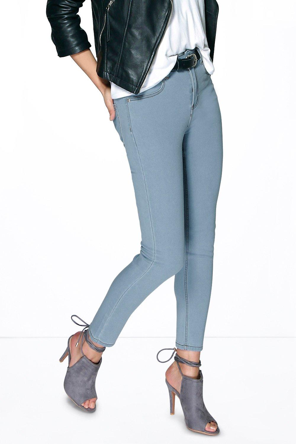Jessie 5-Pkt High Rise Ankle Skinny Jeans